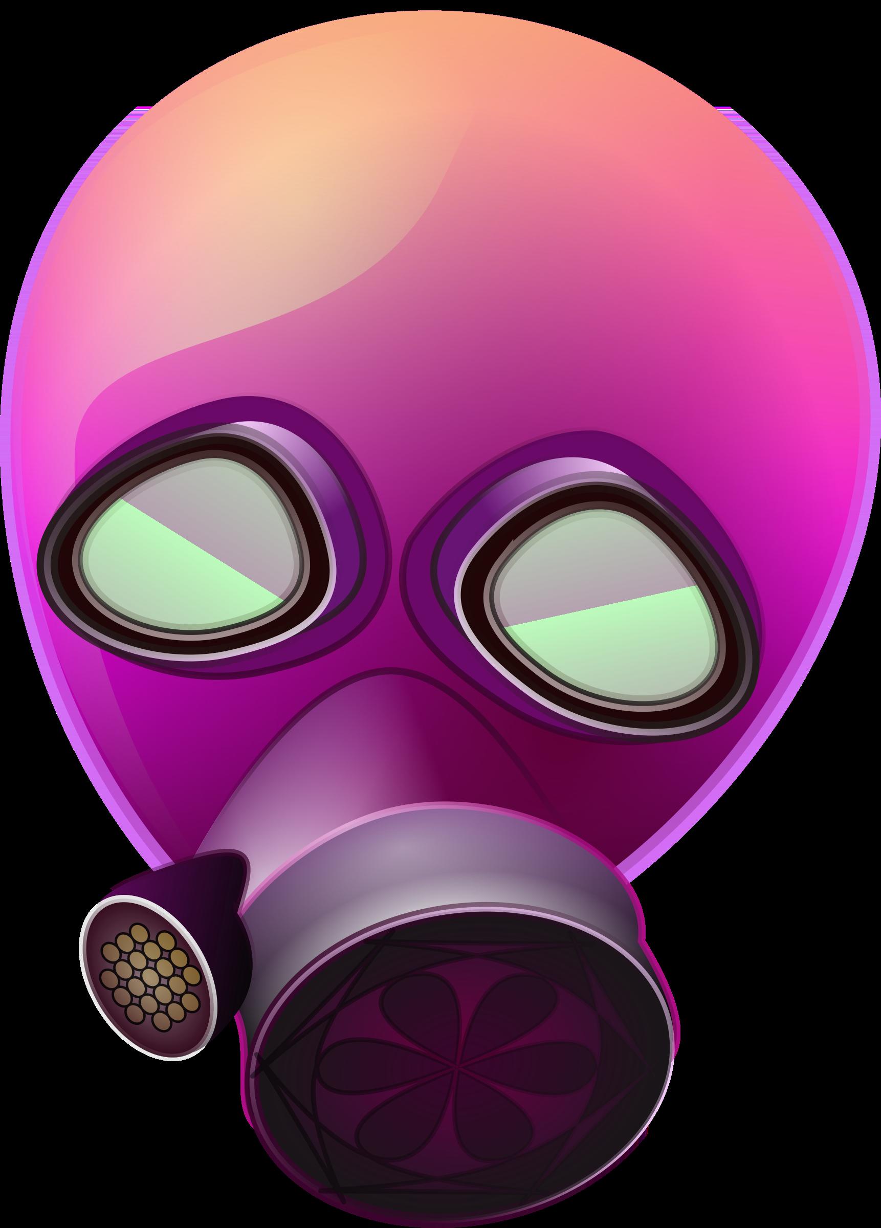 Pilot clipart mask. Pink gas big image