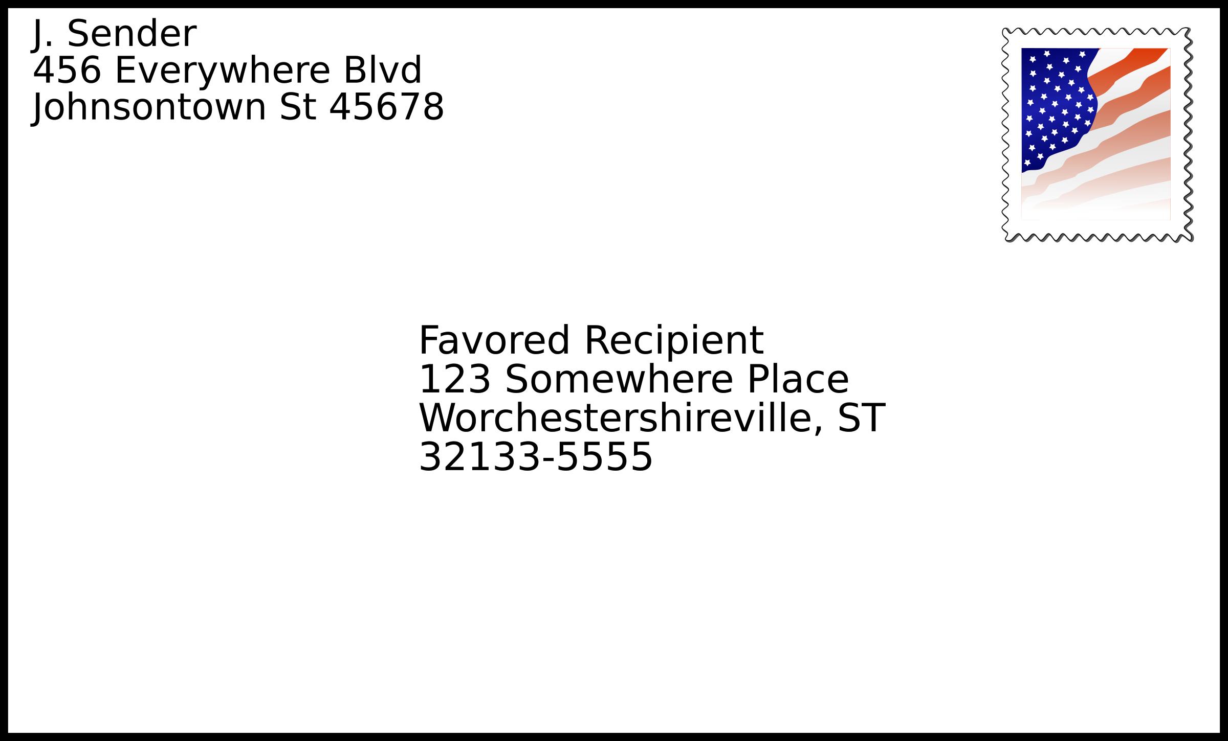 envelope clipart mailing address