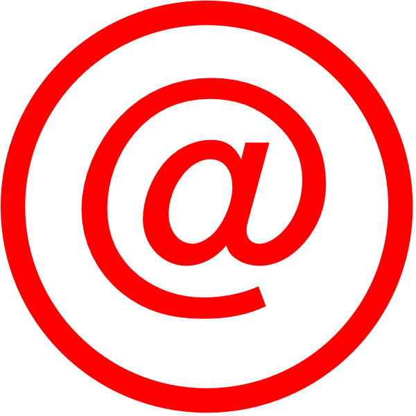 Logo latest clip art. Email clipart red email