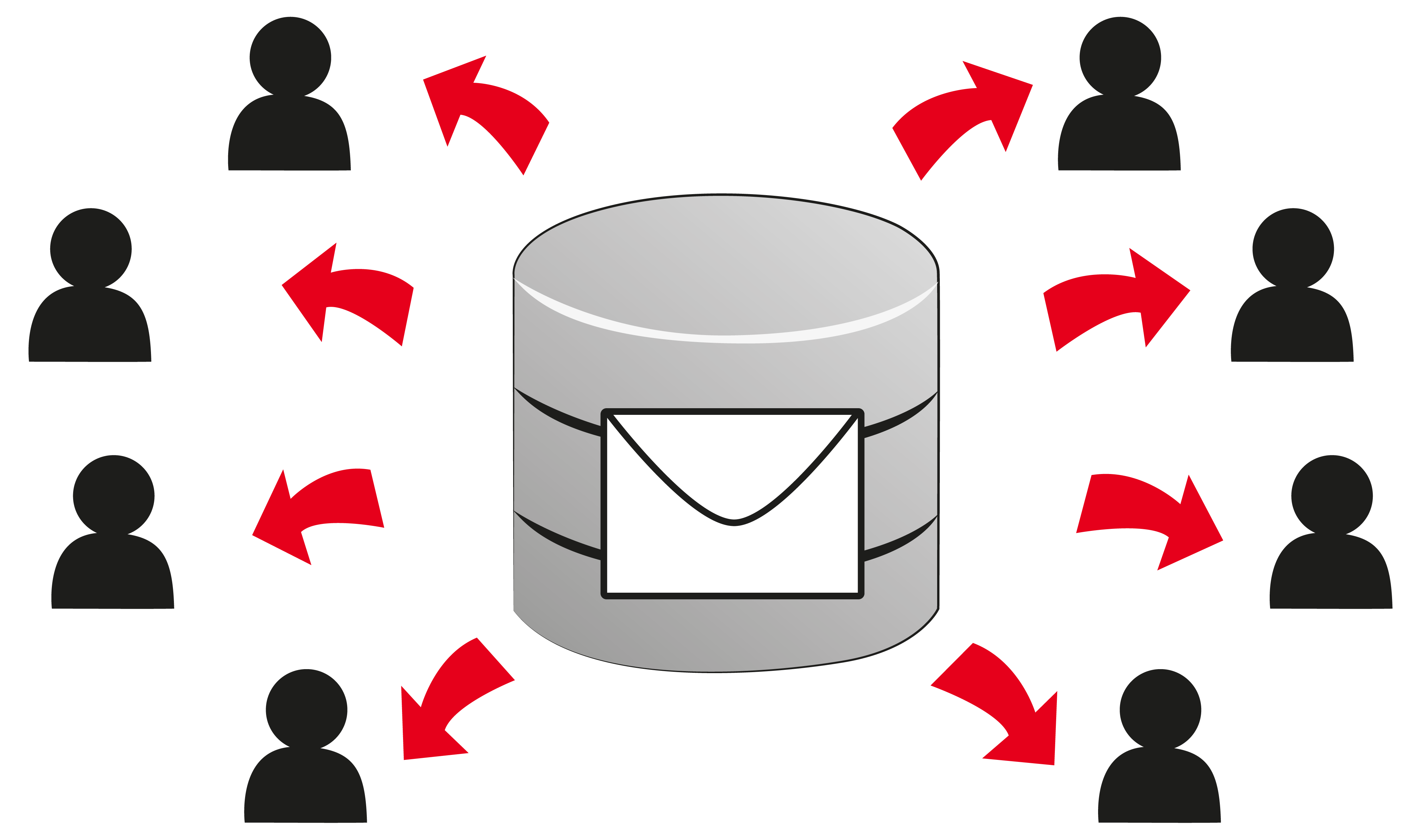 Database list funny booth. Email clipart red email