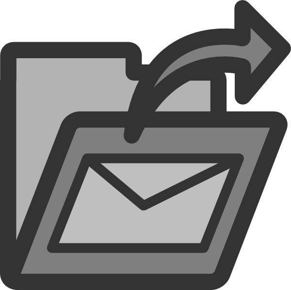 Email clipart sent. Mail folder clip art