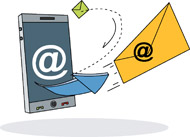 email clipart sent