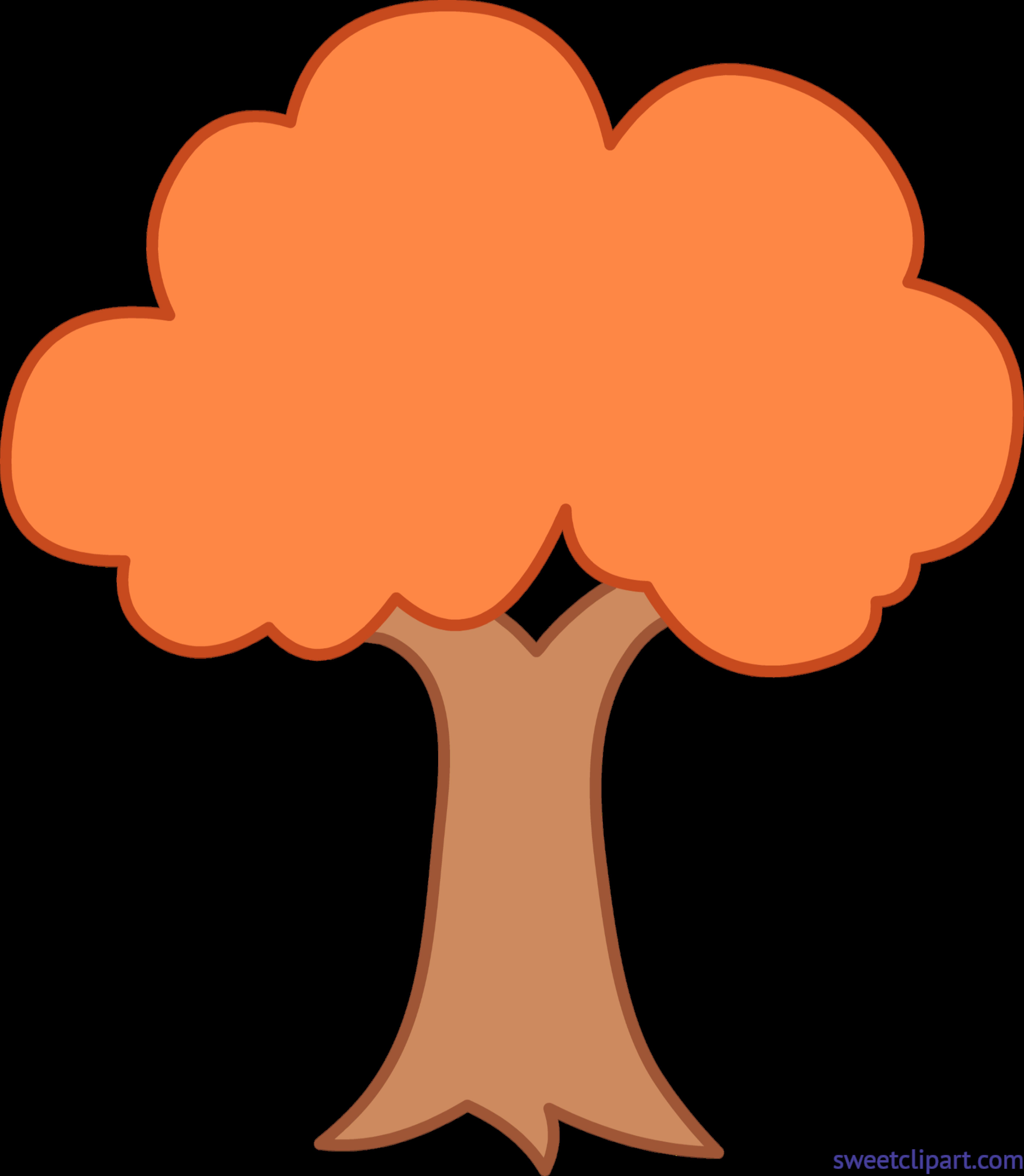 Tiny autumn simple clip. Xylophone clipart tree