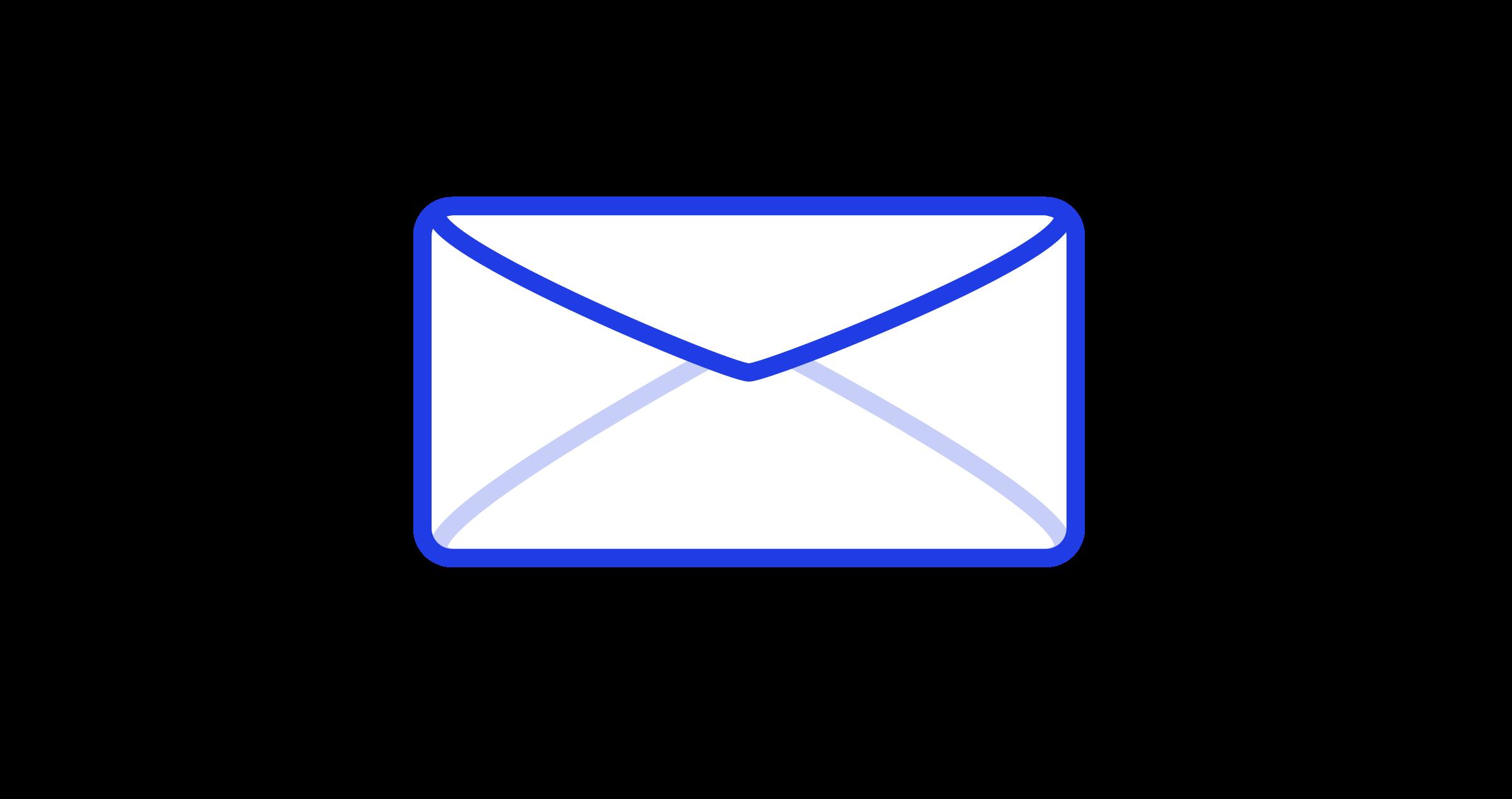Envelope blue envelope