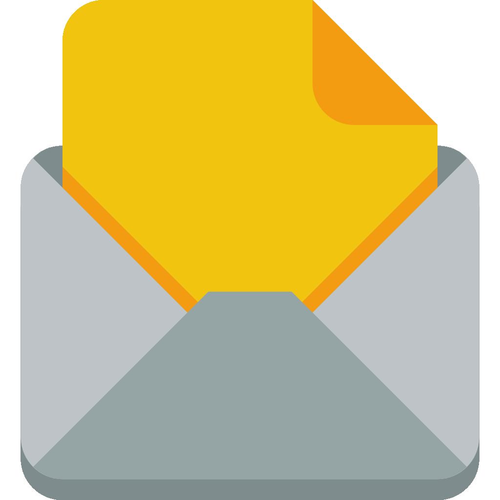 envelope clipart application letter