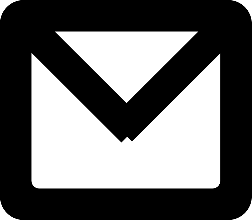 New email gross outlined. Envelope clipart mail symbol