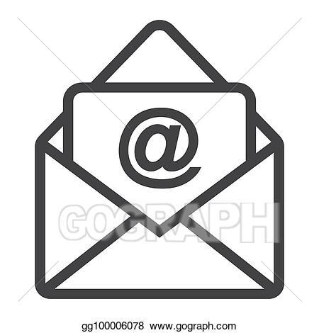 Vector illustration line icon. Email clipart website