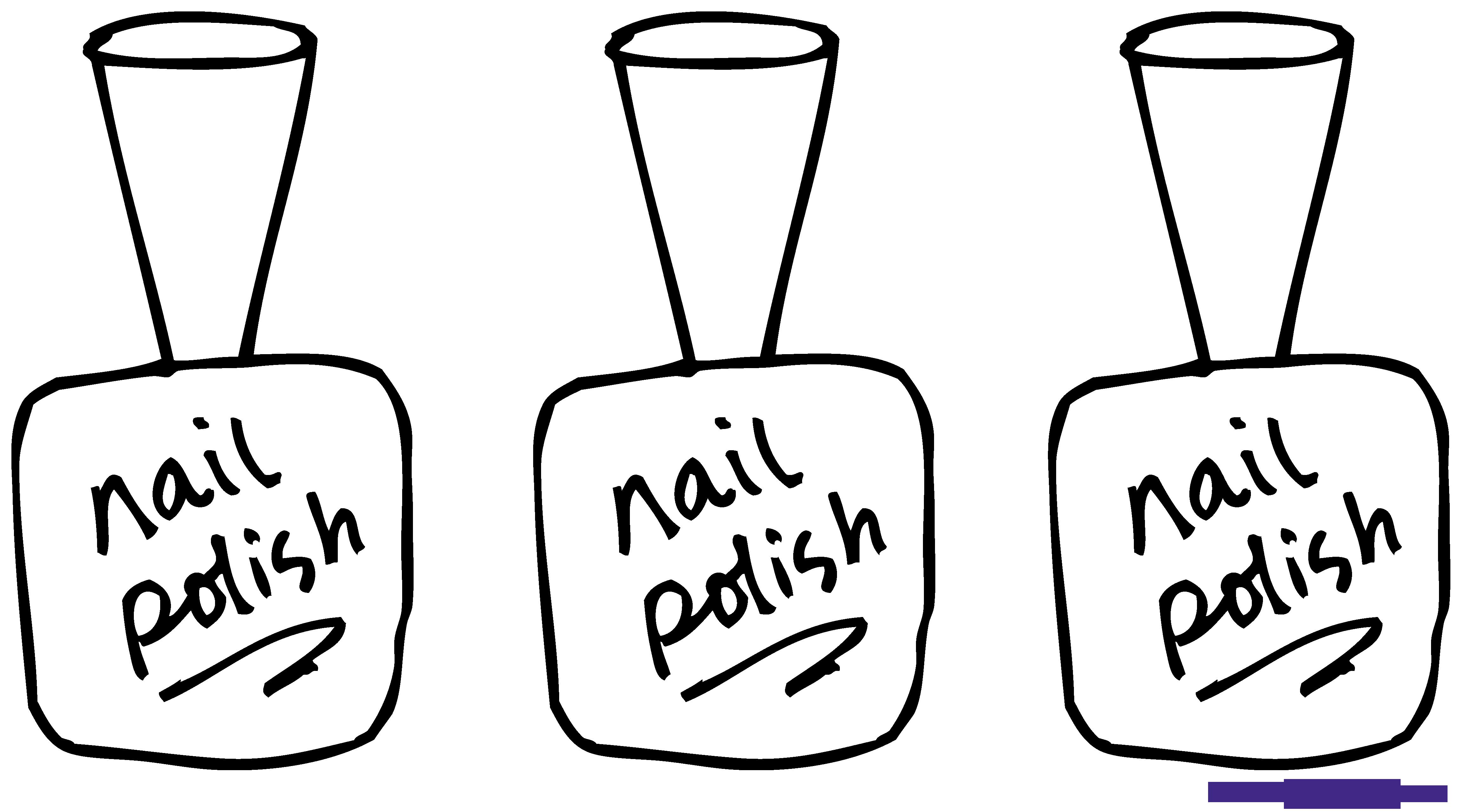 Nail polish line art. Nails clipart christmas religious