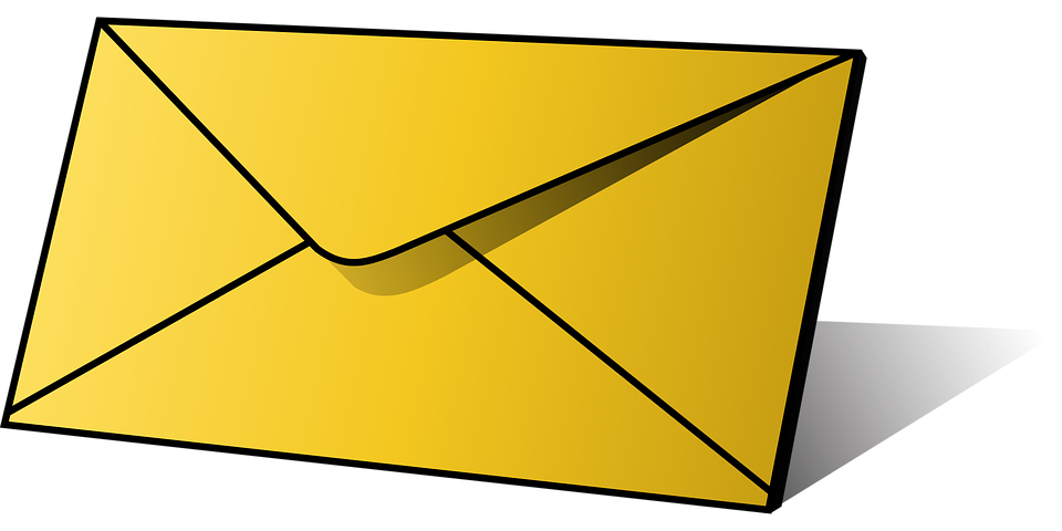 Contact information . Email clipart yellow envelope