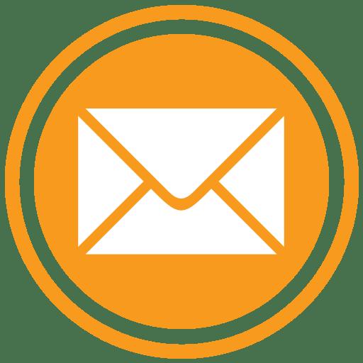 Orange transparent stickpng download. Email icon png
