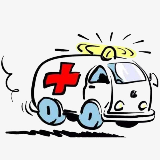 Ambulance speed urgent red. Emergency clipart