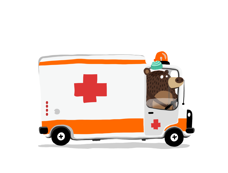 Emergency clipart ambulance driver. Acr mr bear graficskull