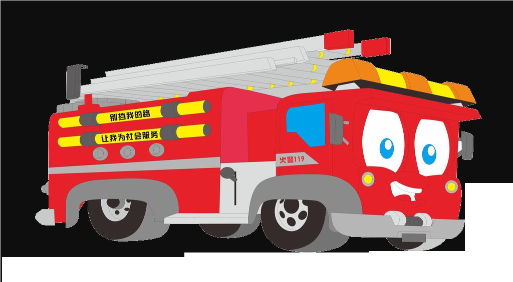 Fire engine cartoon. Emergency clipart ambulance truck