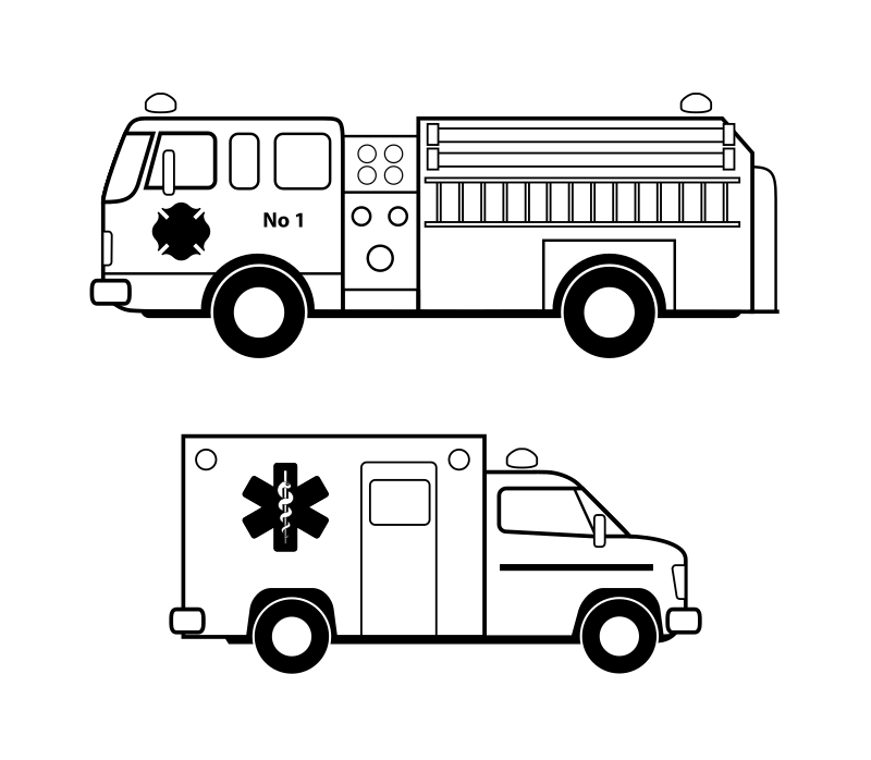 Emergency clipart ambulance truck. V hicules d urgence