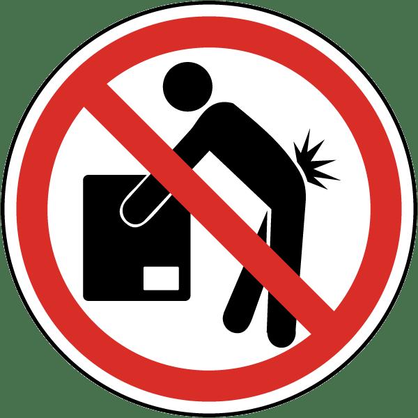 Emergency clipart danger symbol. Do not lift label