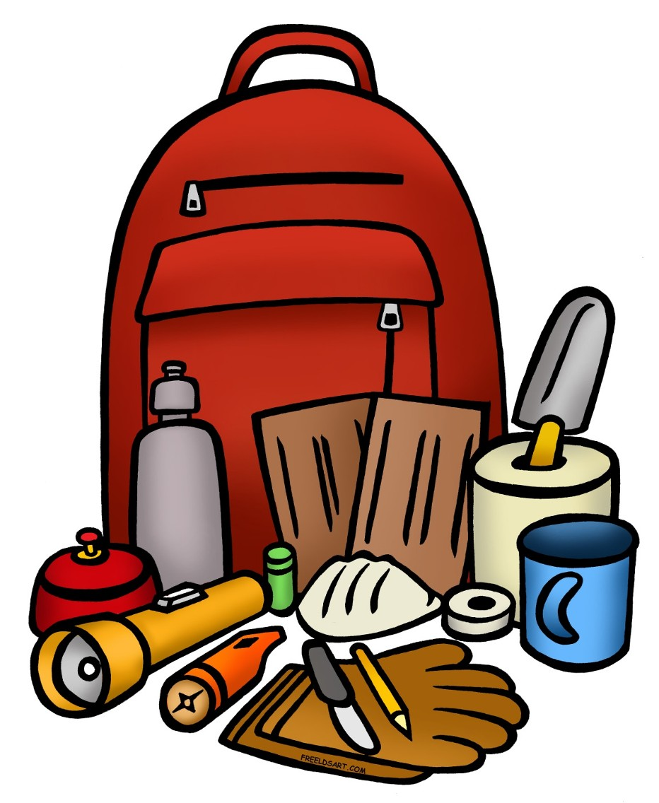 Free preparedness cliparts download. Emergency clipart emergency backpack