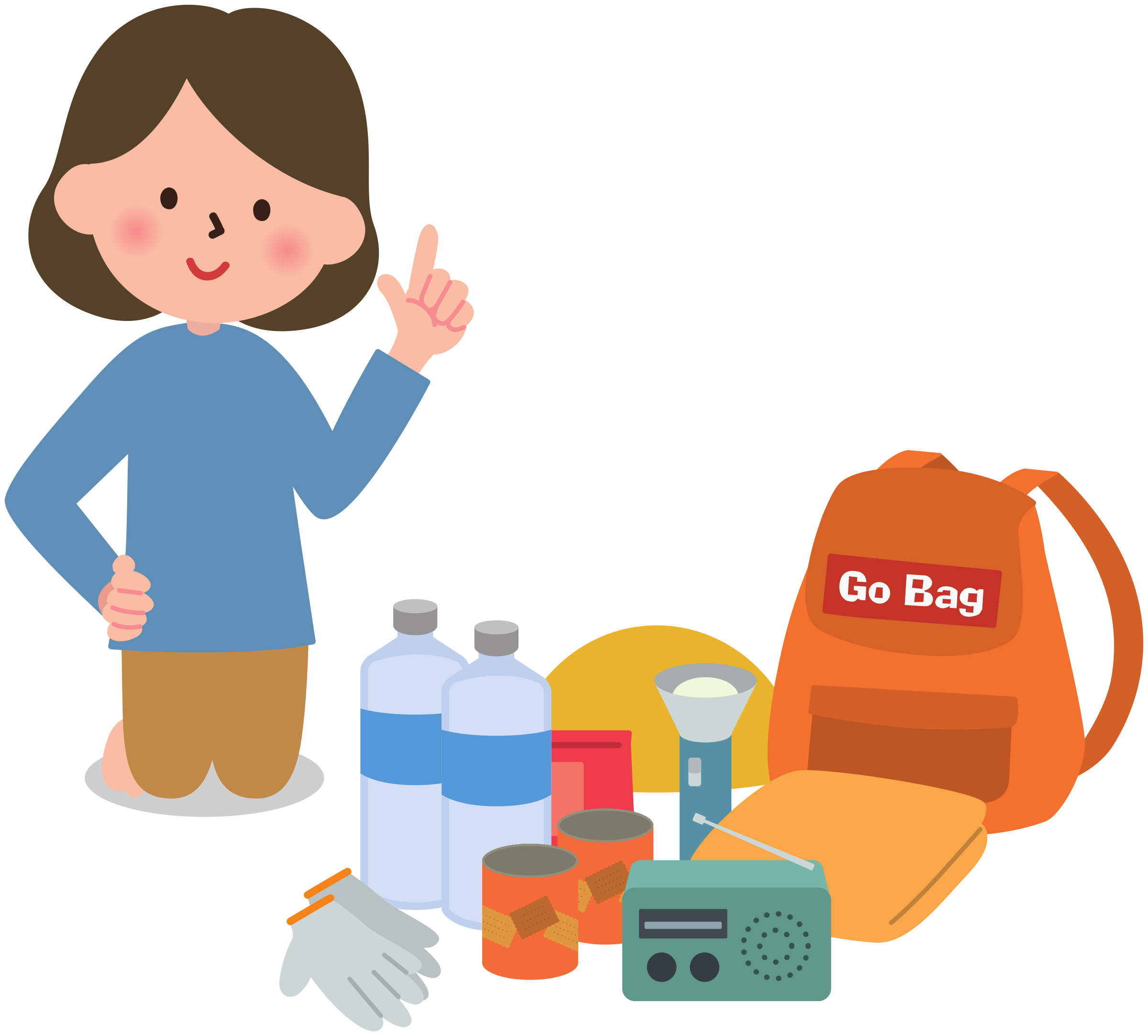 Emergency management woman big. Female clipart manager