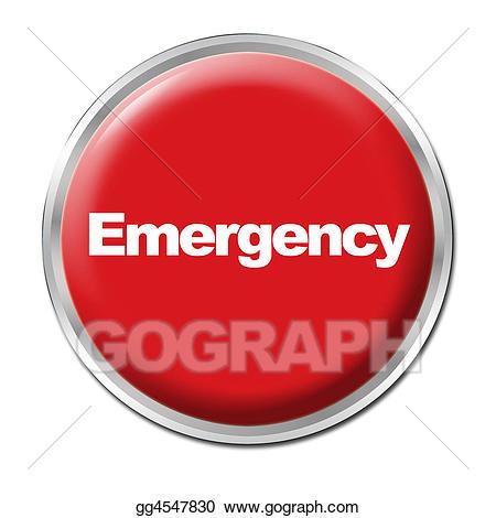 Stock illustration illustrations . Emergency clipart emergency button