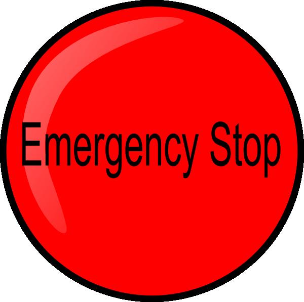 Estop clip art at. Emergency clipart emergency button