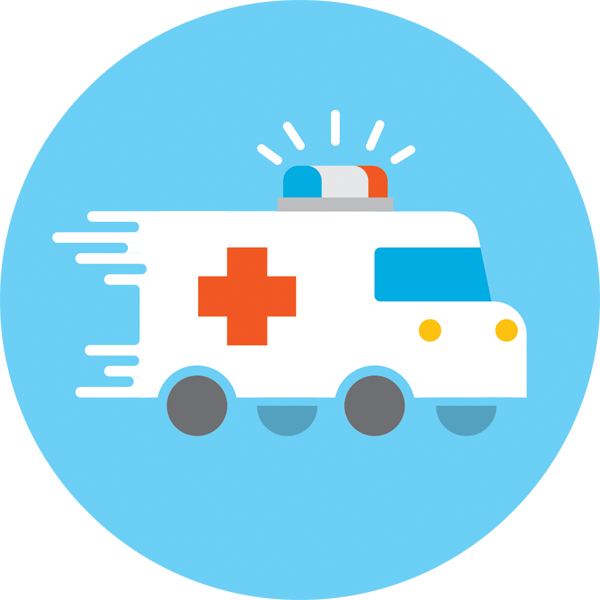 Emergency clipart emergency care.  room services team