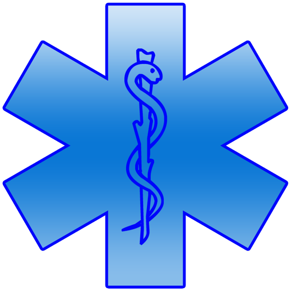 Emergency clipart emergency care. Blue star of life