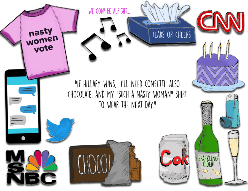 Worry clipart survival kit. Election day an illustrated