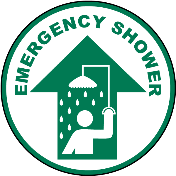 Emergency clipart emergency personnel. Shower floor sign p