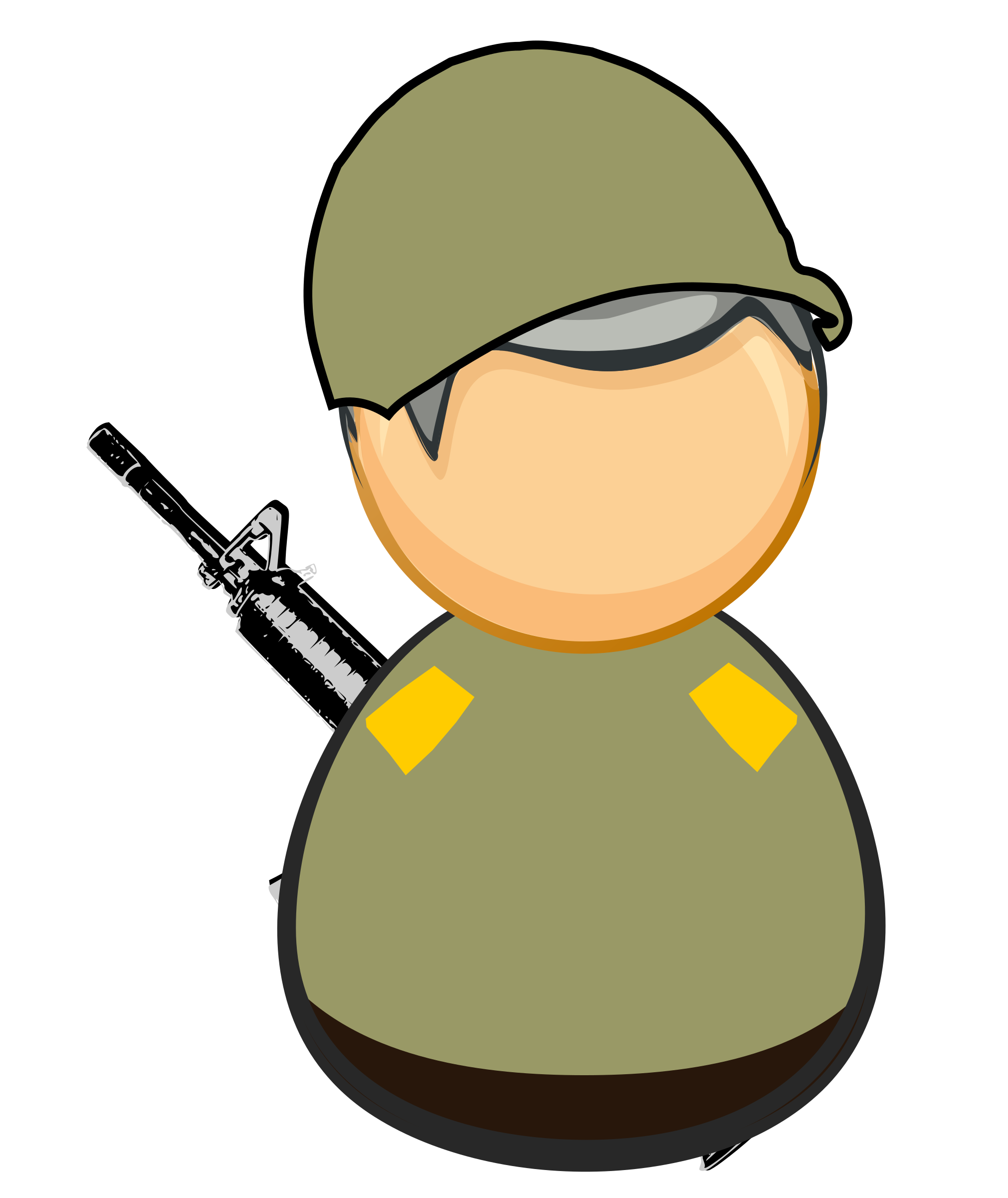 First responder icon soldier. Military clipart army doctor
