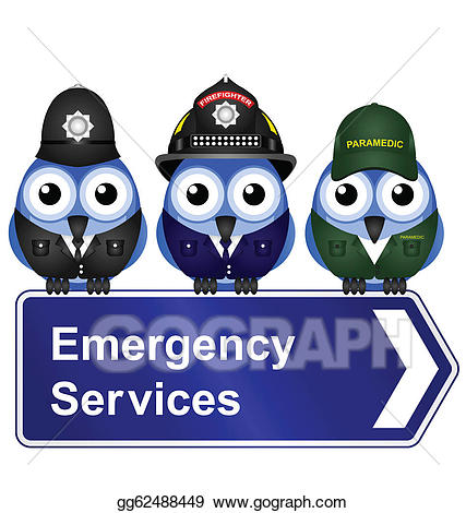 Emergency clipart emergency service. Vector art services sign