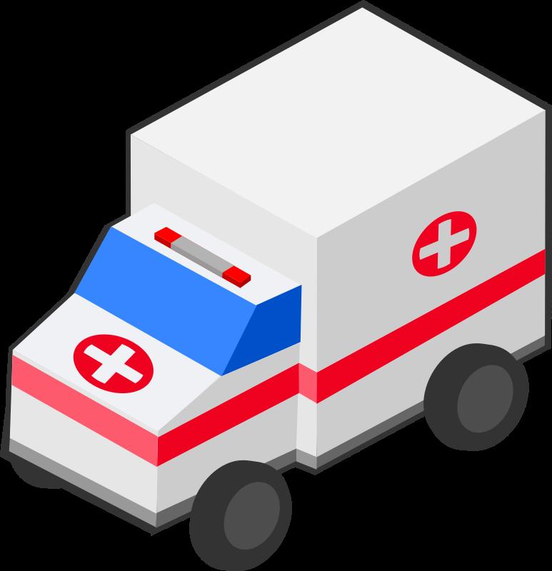 Isometric ambulance medium image. Emergency clipart emergency vehicle