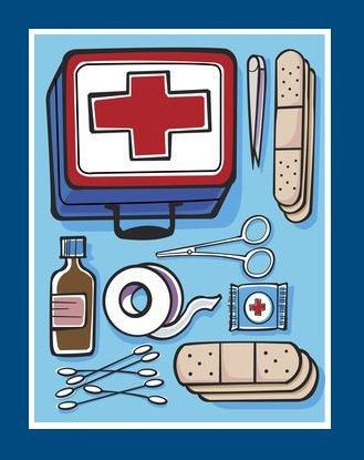 Preparedness first aid kit. Worry clipart emergency supply