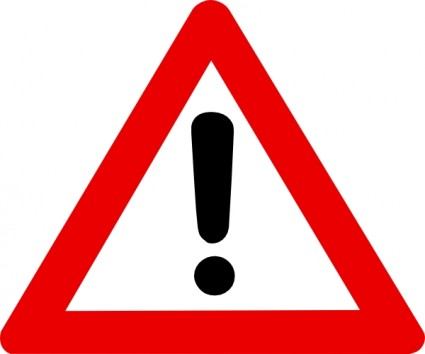 Emergency clipart life threatening. Warning sign clip art