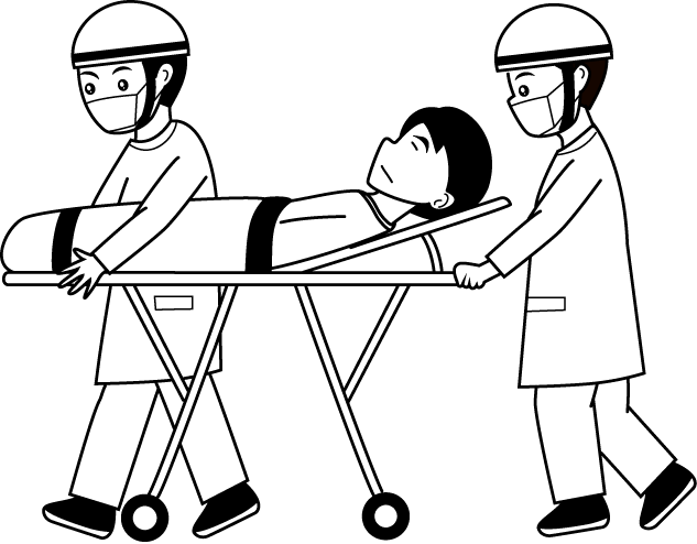 Stretcher panda free images. Hospital clipart gurney