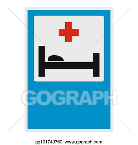 Emergency clipart medical bed. Stock illustration hospital and