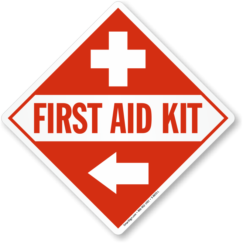 Emergency clipart medicine kit. First aid signs inside