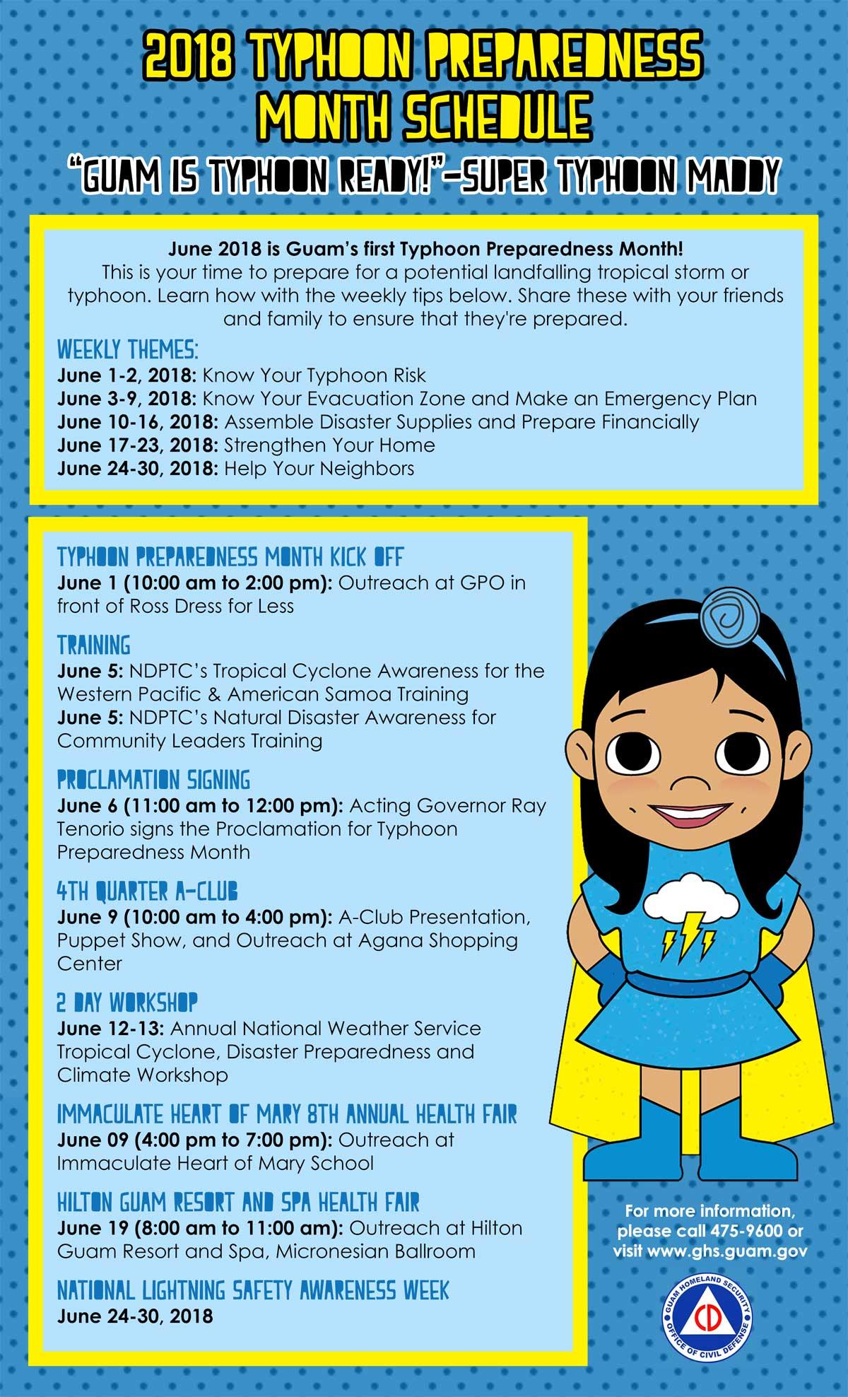 Month june ghs ocd. Emergency clipart typhoon preparedness