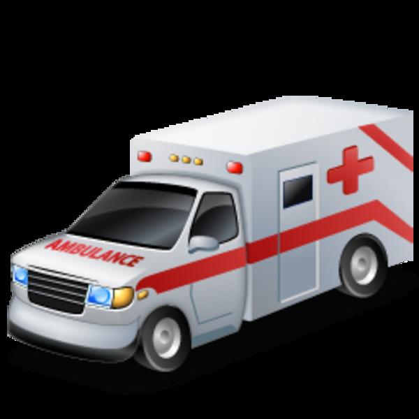 Emergency van ambulance