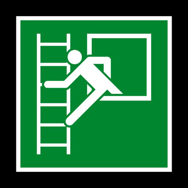 Ladder clipart fire ladder. Emergency window escape symbol