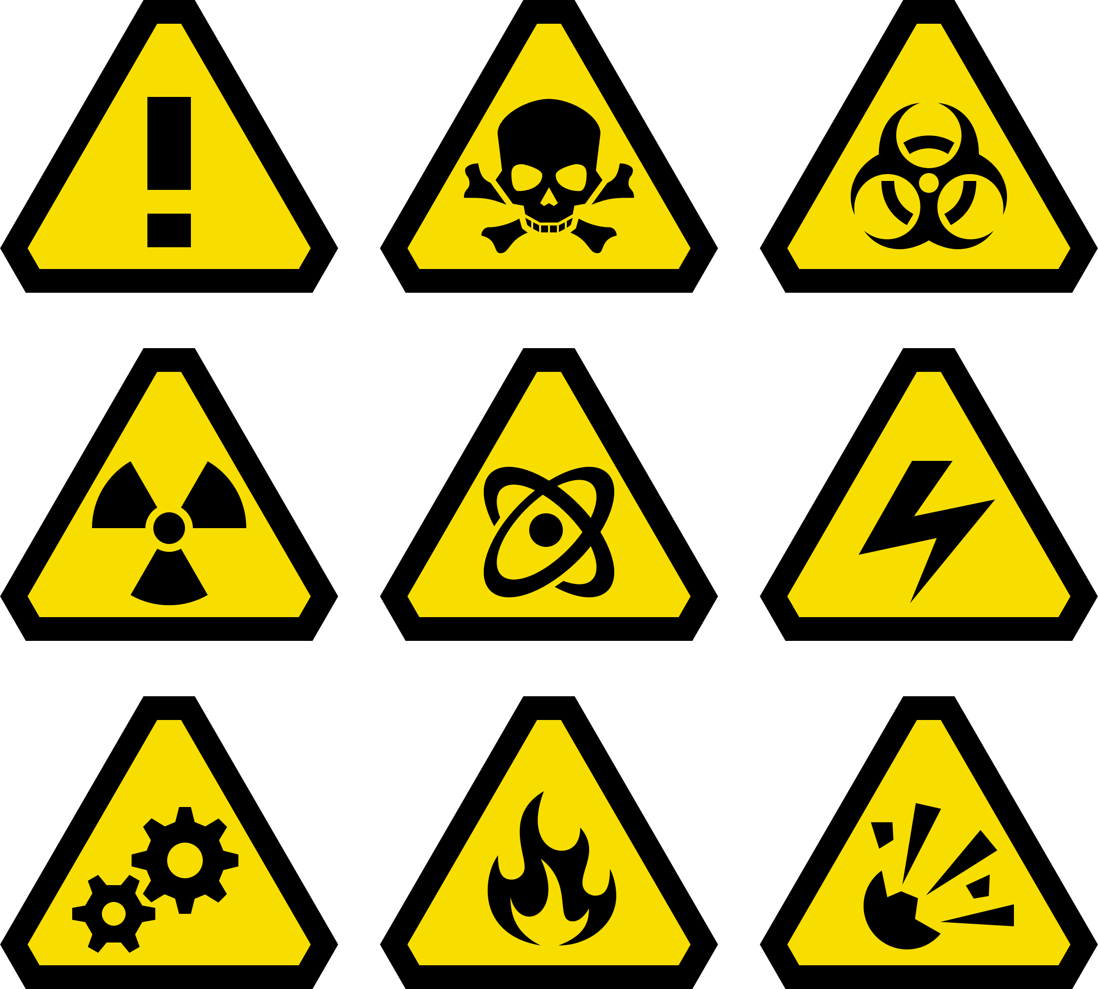 Emergency clipart warning symbol. Image for free explosion
