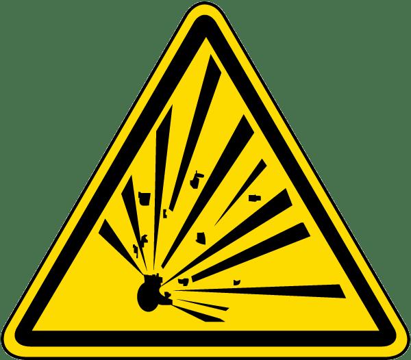 Explosive material label j. Emergency clipart warning symbol