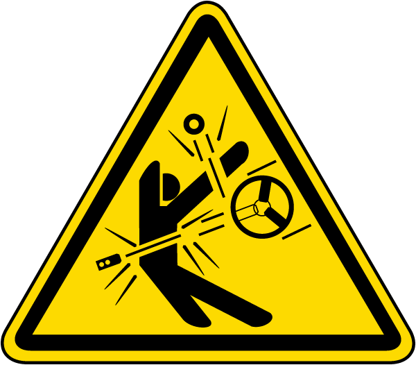 Emergency clipart warning symbol. High speed moving parts