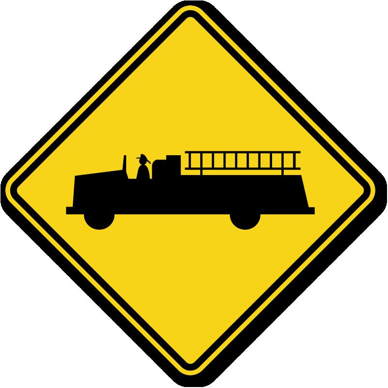 Vehicle traffic sign w. Emergency clipart warning symbol