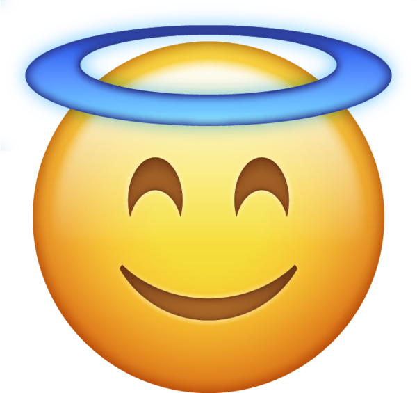 Emoji clipart angel. Download halo iphone icon
