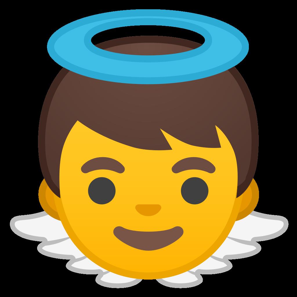 Baby icon noto people. Emoji clipart angel