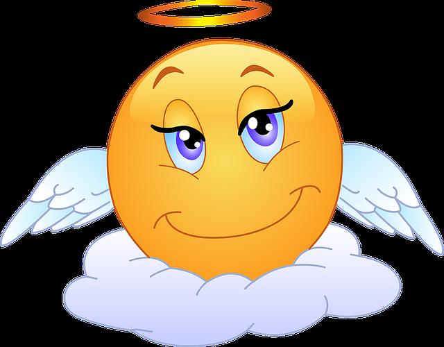 Emoji clipart angel.