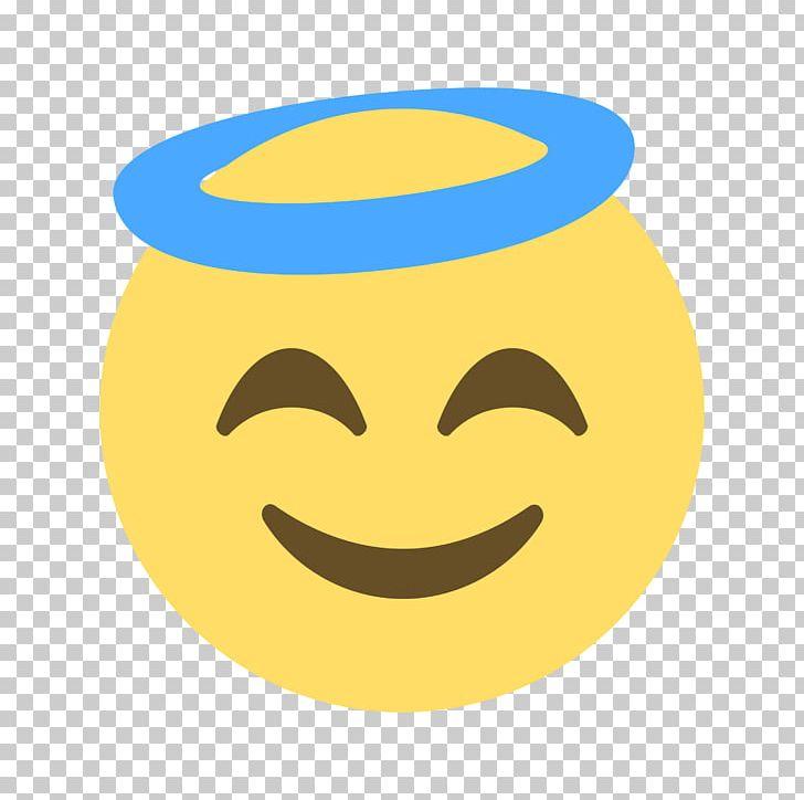 Emoticon smiley sticker png. Emoji clipart angel