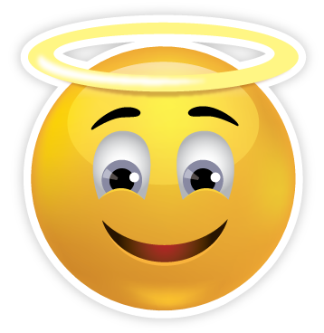 Emoji clipart angel. Faces sweet face sticker