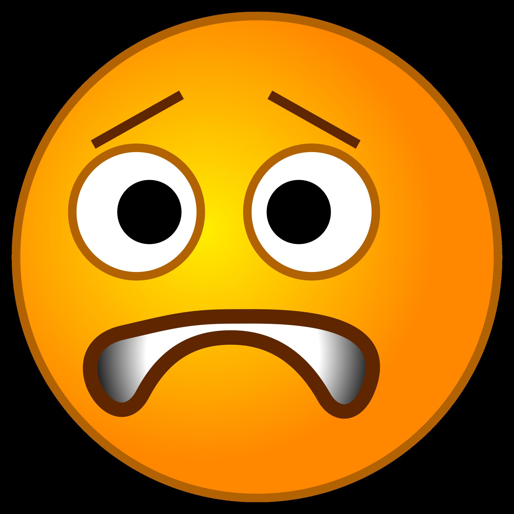 Emoji copy paste art. Emotions clipart worried