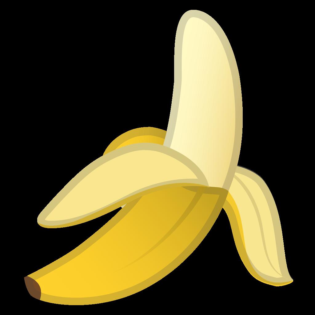 Emoji clipart banana. Icon noto food drink