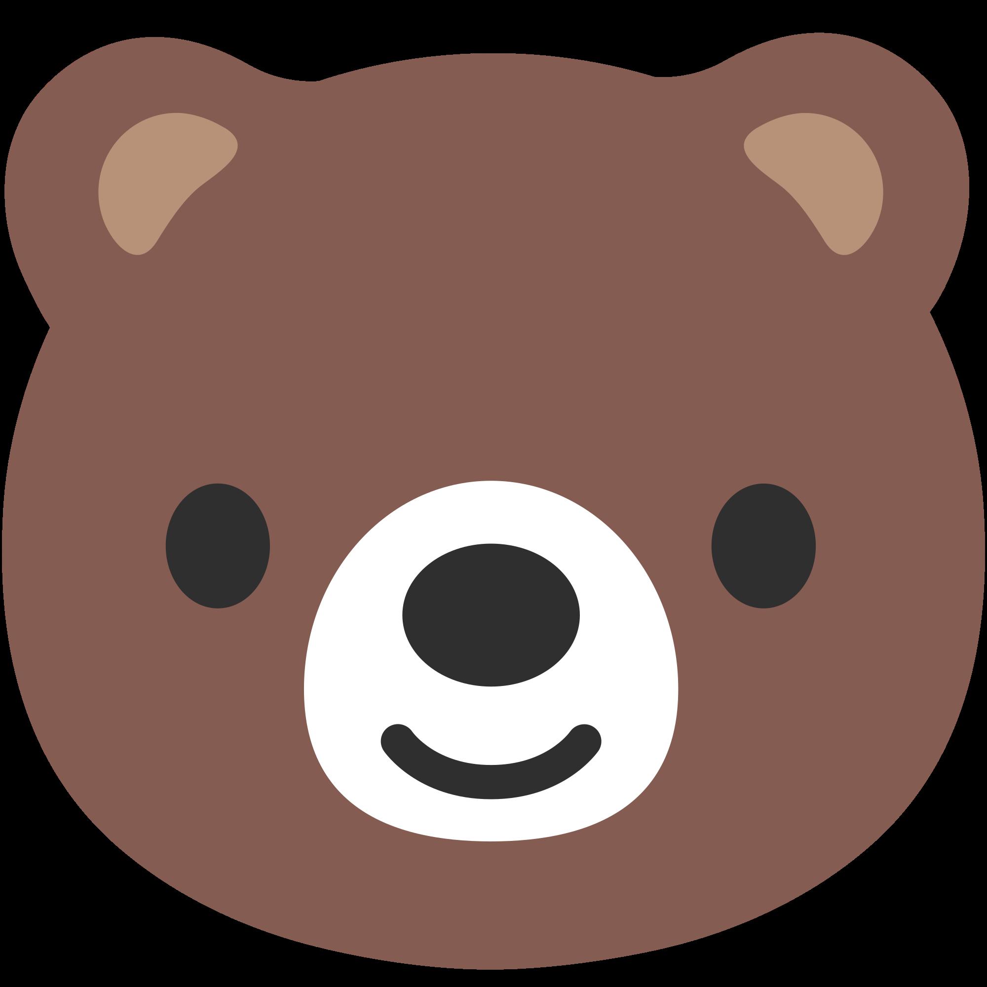 File u f b. Emoji clipart bear